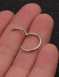 Fashion Steel Color Stainless Steel Open Ring Round Nose Ring (1 Price)