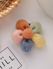 Fashion Send Money Flower Hair Ball Hit Color Alloy Hair Rope Hairpin
