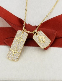 Fashion Gold Coloren Turnbuckle Geometric Six-pointed Star Pendant Necklace