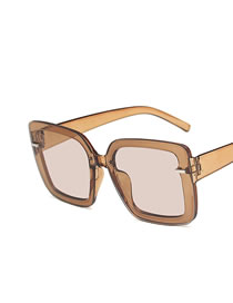 Gafas De Sol Cuadradas Con Protección Uv De Montura Grande