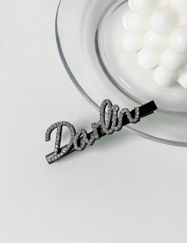 Fashion Letter 4 Alloy Word Hairpin With Diamond Letters