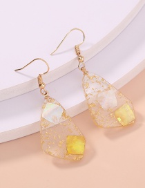 Fashion Transparent Asymmetric Transparent Resin Jelly Earrings