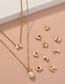 Fashion Golden Color Letter Pearl Multilayer Necklace (a Necklace + 26 Letter Accessories)