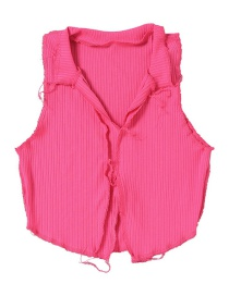 Fashion Rose Red Slim Short Sleeveless Vest