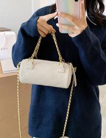 Fashion White Chain Diamond Shoulder Crossbody Bag