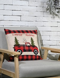 Fashion Black Red Check Color Embroidered Flannel Pillowcase[without Core]
