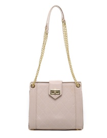 Fashion Creamy-white Chain Rhombus Lock Shoulder Crossbody Bag