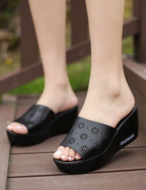 Fashion Black Slippers And Slippers