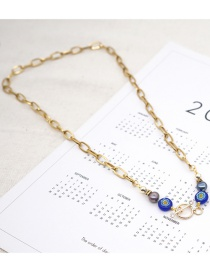Fashion Gold Coloren Natural Freshwater Pearl Ot Buckle Pendant Stainless Steel Necklace