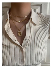 Fashion Gold Coloren Dragon-shaped Snake Bone Chain Alloy Multilayer Necklace