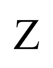 Fashion Stainless Steel Natural Color Z Stainless Steel Letter Pendant Hollow Necklace