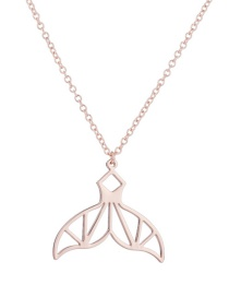 Fashion Environmentally Friendly Alloy-rose Gold Hollow Mermaid Tail Stainless Steel Alloy Necklace