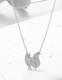 Fashion Silver Color Little Fox Alloy Embossed Necklace