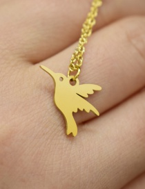 Fashion Golden Color Little Swallow Stainless Steel Hollow Necklace
