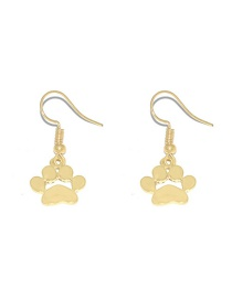 Fashion Gold Color Dog Footprint Alloy Hollow Earrings