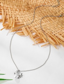 Fashion Silver Pearl Antler Alloy Necklace