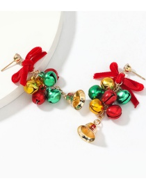 Fashion Christmas Bell String Multilayer Alloy Christmas Bell Earrings