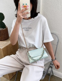 Fashion Green Flap Chain Shoulder Crossbody Bag