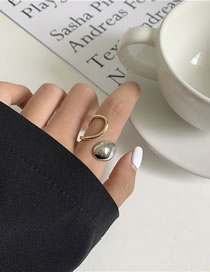 Fashion Color Matching Chain Thick Chain Twist Hollow Alloy Ring