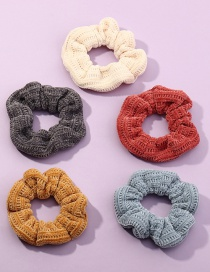 Fashion Suit Striped Wool Knitted Large Bowel Hair Rope Set