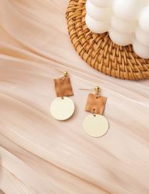 Fashion Square Geometric Contrast Color Hollow Long Earrings