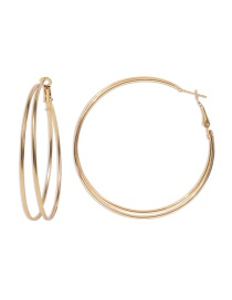 Fashion Gold Color Alloy Round Ear Studs