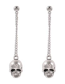 Fashion White K Christmas Alloy Skull Earrings