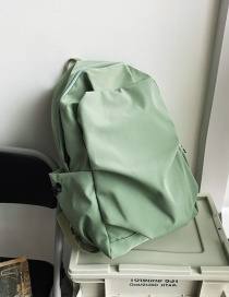 Fashion Green Without Pendant Pleated Solid Color Nylon Backpack