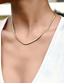 Fashion Gold Color Thin Chain Alloy Necklace