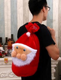 Fashion Old Man Face Bag Christmas Decoration Golden Velvet Old Man Backpack Gift Bag