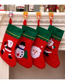 Fashion Green Side Socks (random Pattern) Christmas Stitching Contrast Color Christmas Socks