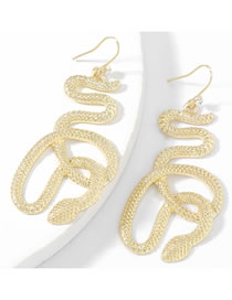 Fashion Gold Color Alloy Boa Constrictor Hollow Earrings