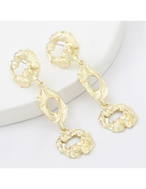 Fashion Gold Color Alloy Multilayer Geometric Earrings