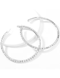 Fashion 10 Silver Color Claw Chain Alloy Diamond Earrings
