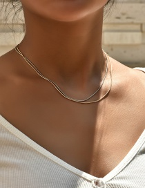 Fashion Color Mixing Twist Chain Alloy Multilayer Necklace
