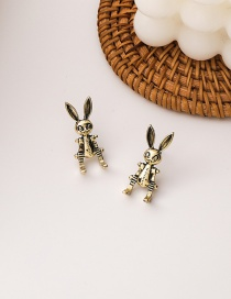 Fashion Gold Color Rabbit Alloy Distressed Earrings