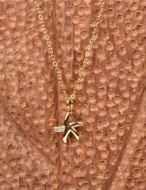 Collar Con Colgante De Estrella De Mar De Diamantes
