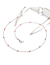 Fashion Red Chain Crystal Handmade Beaded Glasses Chain