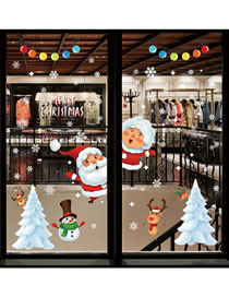 Fashion Christmas Tree Christmas Window Glass Door And Window Decoration Wall Sticker