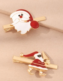 Fashion Suit Santa Dripping Alloy Hairpin