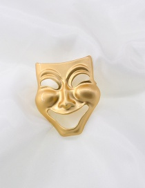 Fashion Gold Color Smiley Mask Face Alloy Hollow Brooch