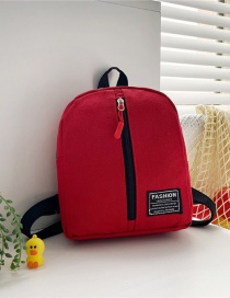 Fashion 19 Inch Three Red Canvas Bunny Elephant Stitching Contrast Backpack