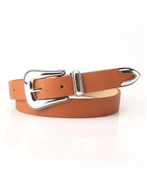 Fashion Camel Carved Alloy Buckle Dress Belt