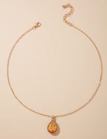 Fashion Golden Water Drop Pendant Resin Alloy Necklace