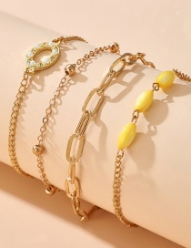 Fashion Circle Butterfly Shell Moon Disc Pendant Multilayer Anklet