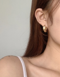 Fashion Golden Letters Gold-plated Ring Earrings
