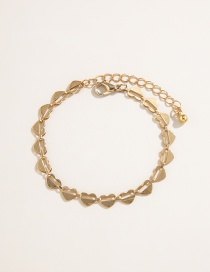 Fashion Golden Love Butterfly Drop Oil Thick Chain Love Alloy Bracelet