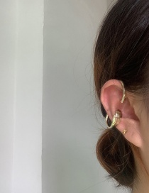 Fashion Golden Single Metal Ring Without Pierced Ears