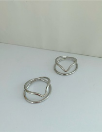Fashion Silver Pair Curved Gold-plated Copper Ear Clip Without Piercing