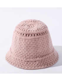 Fashion Lotus Color Pure Color Wool Knitted Fisherman Hat